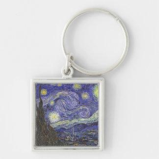 """Llavero de la """"noche estrellada"""" de Vincent van Go"""
