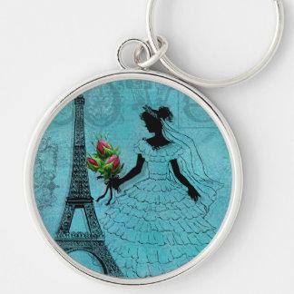 Llavero de la novia de la torre Eiffel