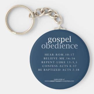Llavero de la obediencia del evangelio