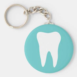 Llavero de la odontología con el logotipo blanco d