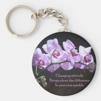 Llavero de la orquídea - actitud cambiante