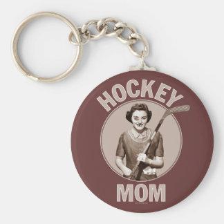 Llavero de la oscuridad de la mamá del hockey