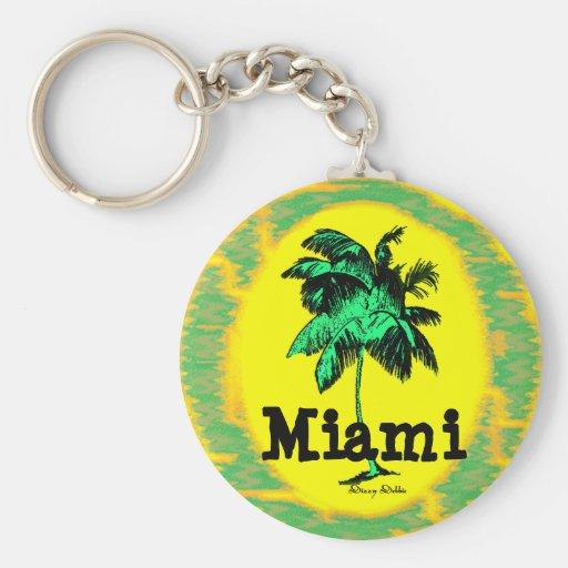 Llavero de la palmera de Miami