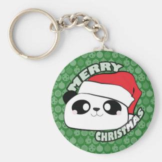Llavero de la panda de las Felices Navidad