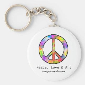 Llavero de la paz, del amor y del arte