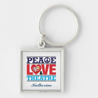 Llavero de la paz, del amor y del teatro