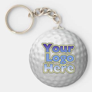 Llavero de la pelota de golf del logotipo