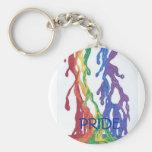 Llavero de la pintura del orgullo gay