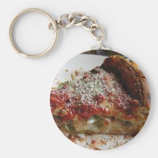 Llavero de la pizza de la costa viva de los lugare