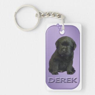 Llavero de la placa de identificación de Derek