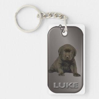 Llavero de la placa de identificación de Lucas
