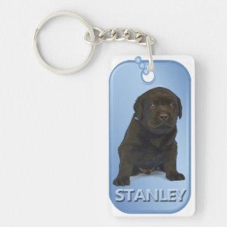 Llavero de la placa de identificación de Stanley