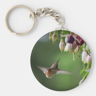 Llavero de la planta del colibrí y de la flor de F