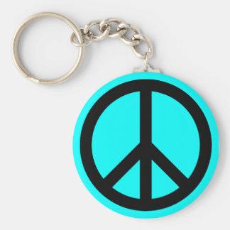 Llavero de la plantilla del símbolo de paz