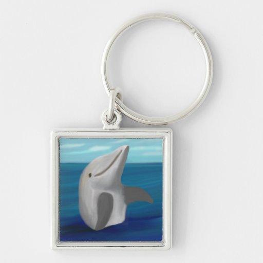 Llavero de la plata del océano del delfín