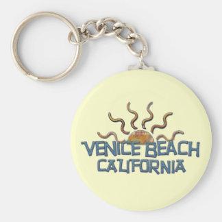¡Llavero de la playa de Venecia! Llavero Redondo Tipo Pin