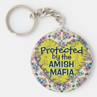 ¡Llavero de la protección de la mafia de Amish! Llavero Redondo Tipo Pin