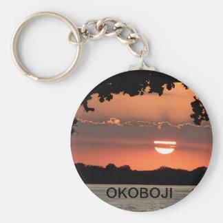 Llavero de la puesta del sol de Okoboji