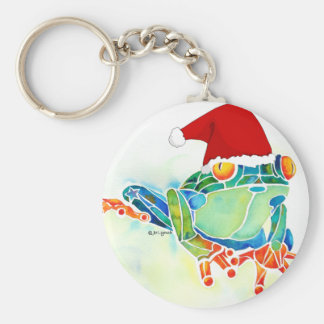 Llavero de la rana de árbol de navidad