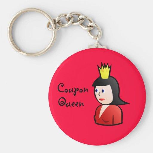 Llavero de la reina de la cupón