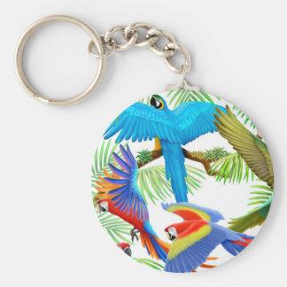 Llavero de la selva del Macaw
