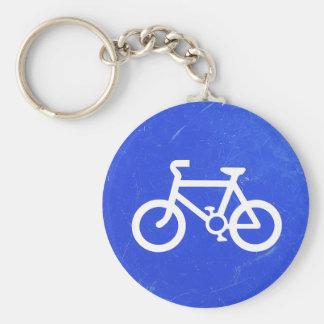 Llavero de la señal de tráfico de bicicleta