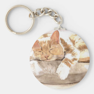 Llavero de la siesta del gato