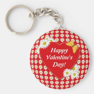 Llavero de la tarjeta del día de San Valentín del