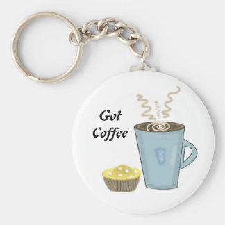 Llavero de la taza y del mollete de café