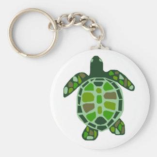 Llavero de la tortuga de mar de la gema