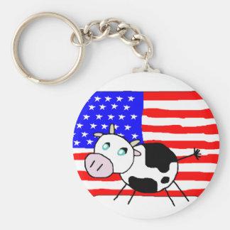 Llavero de la vaca de los E.E.U.U.