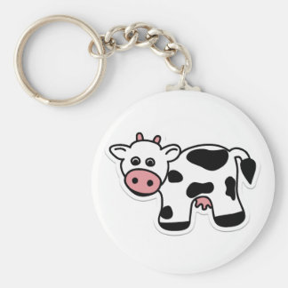 Llavero de la vaca del dibujo animado