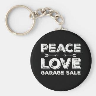 Llavero de la venta de garaje del amor de la paz