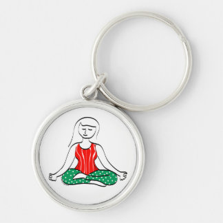 Llavero de la yoga del navidad