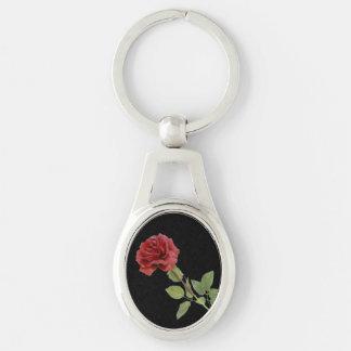 Llavero de largo provenido del rosa rojo llaveros