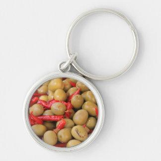 Llavero de las aceitunas y de los chiles/llavero