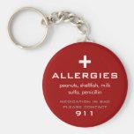 Llavero de las alergias