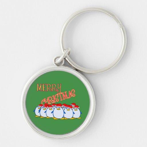 Llavero de las Felices Navidad del pingüino