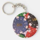 Llavero de las fichas de póker
