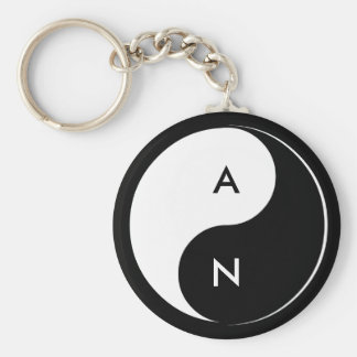 Llavero de las iniciales de los amantes de Yin Yan