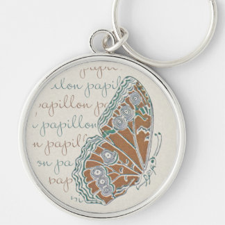 Llavero de las mariposas de Nouveau del arte de Ve