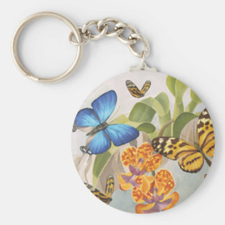 Llavero de las mariposas y de las orquídeas