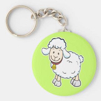 Llavero de las ovejas blancas