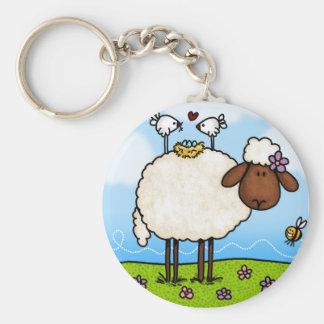 llavero de las ovejas de la primavera