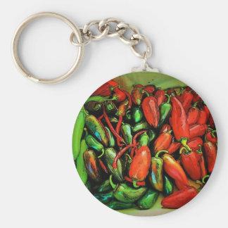 Llavero de las pimientas de chile