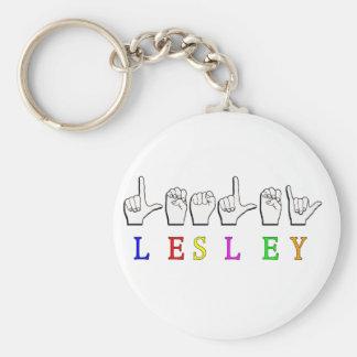 LLAVERO DE LESLEY FINGERSPELLED ASL NAMESIGN