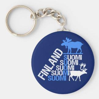 Llavero de los alces y del reno de Finlandia