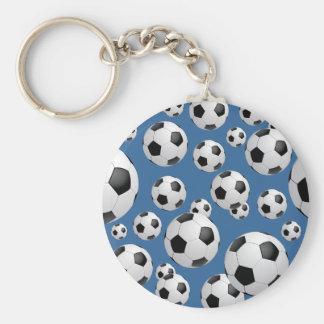 Llavero de los balones de fútbol del fútbol