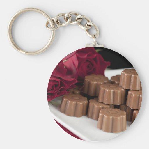 Llavero de los chocolates y de los rosas
