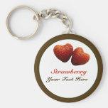 Llavero de los corazones de la fresa